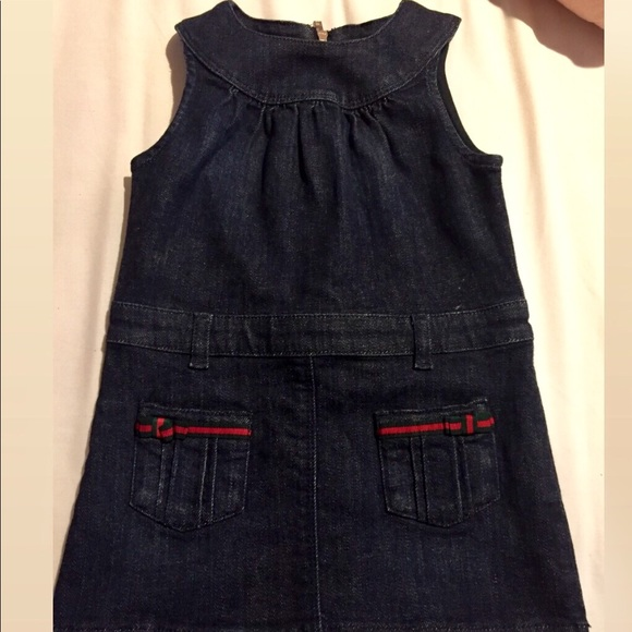 7c1128cc5 Gucci Dresses | Navy Blue Denim Baby Dress 1824mnths | Poshmark